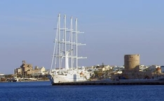 Windstar Spirit in Rhodos