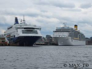 Pearl Seaways und Costa Luminosa